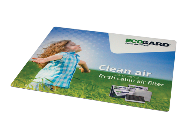 counter mat design by matt wilson for the ecogard clean air campaign