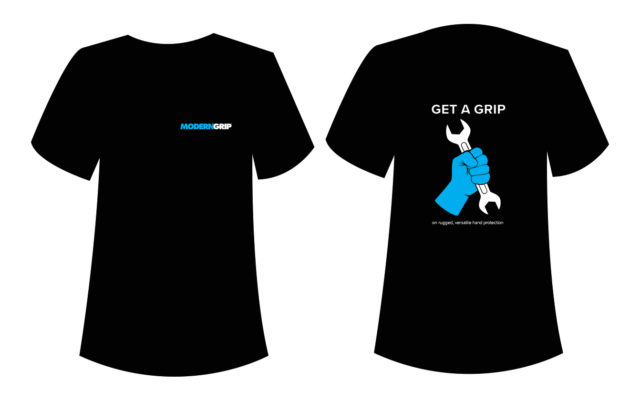 modern grip t-shirt design by matt wilson